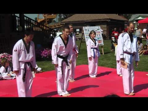Bowman's Taekwondo Demo at Heritage Park, Fort McMurray , August 2012