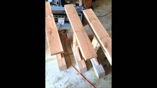 Triple Pedestal Table