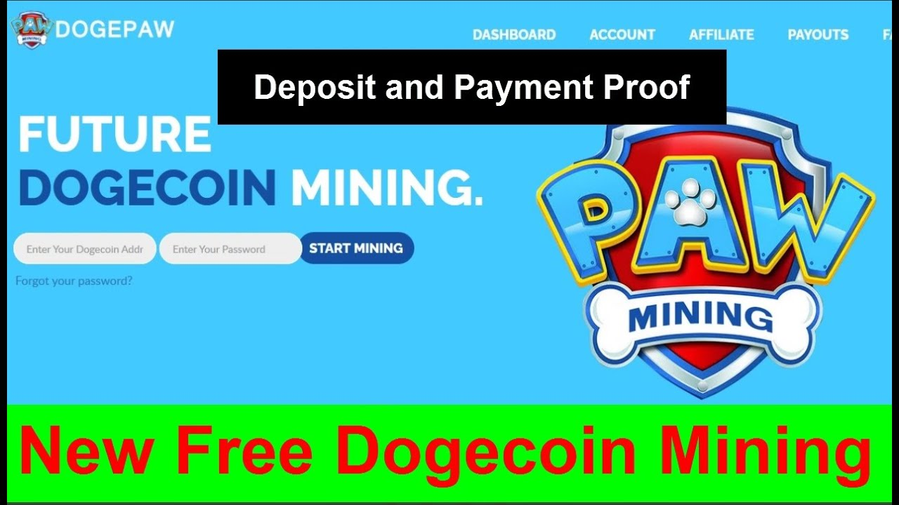 Dogepaw Review Free Dogecoin Mining | Dogepaw Deposit And Payment ...