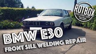 1991 BMW E30 Front Sill Jacking Point Welding Repair