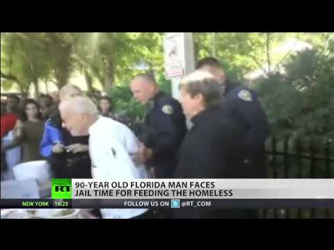 90-years-old faces charges for feeding the homeless