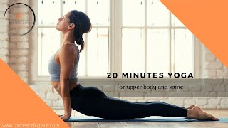 20 minutes stetching yoga for upper body and back pain, spine and sciatica