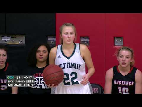 Holy Family vs. Maranatha Girls High School Basketball