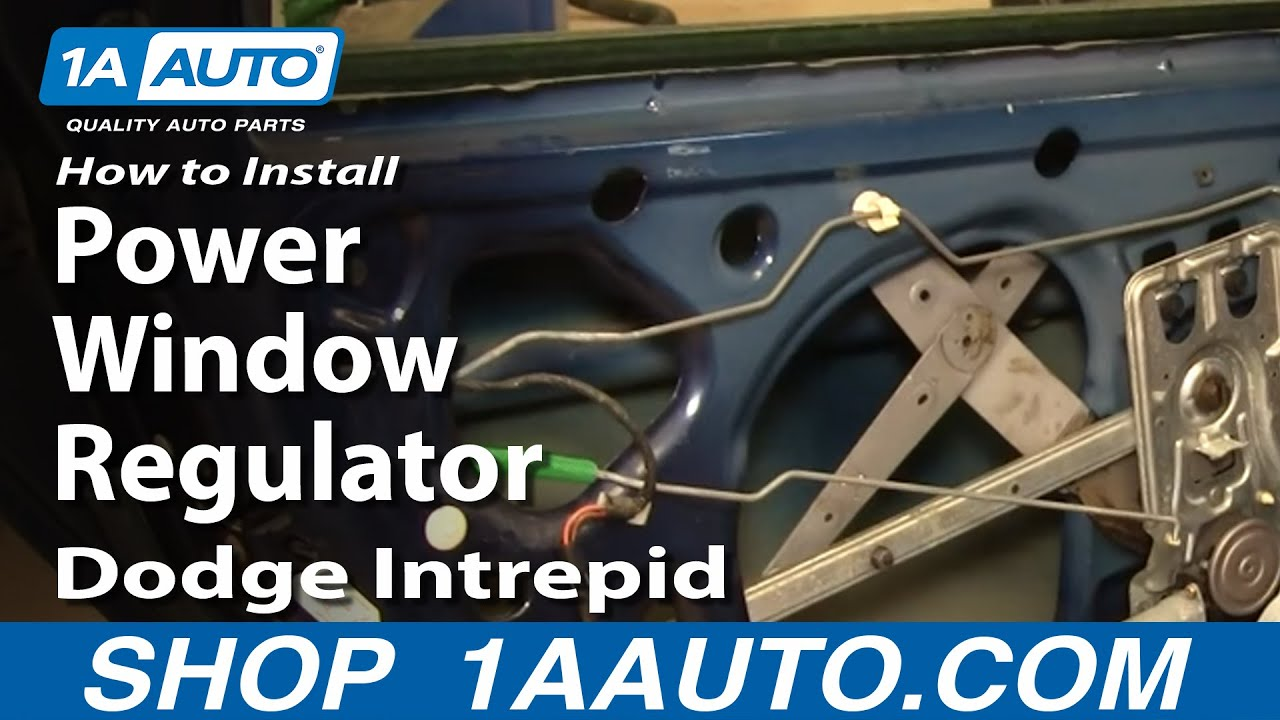 hight resolution of how to install repair replace rear power window regulator dodge intrepid 98 04 1aauto com