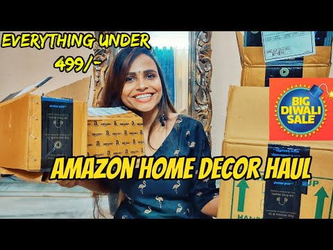 Amazon diwali home decor haul ll Unboxing & Review l everything under 499 l (home decor)