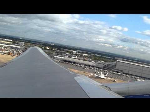 Takeoff from 27L at LHR on British Airways 777-200