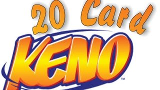 How to video - Win more at 20 Card Keno (Multi-card Keno) with a pr...