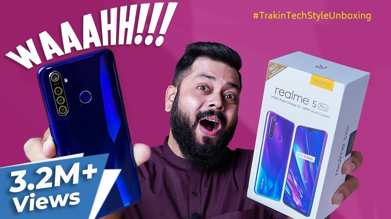 Realme 5 Pro Unboxing & First Impressions ⚡ अब आएगा मजा !!