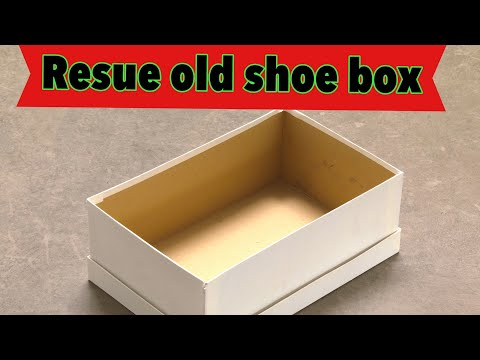 Waste material craft idea - how to reuse shoe box | craft using waste #bestoutofwaste