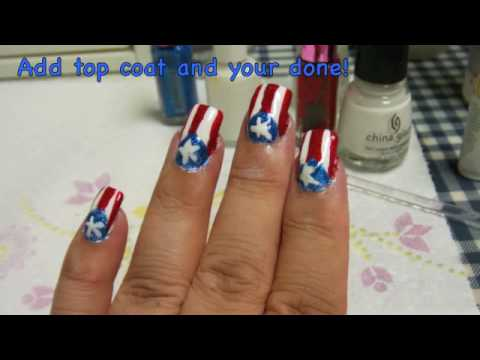 Puerto rican flag nails youtube prinsesfo Gallery