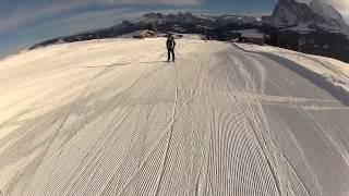 Alpe di Siusi piste - Punta d'oro ; Seiser Alm Goldknopf