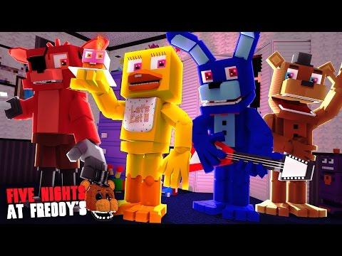 Minecraft: FIVE NIGHTS AT FREDDY'S #28 - ANIMATRONICS DO BEM?!