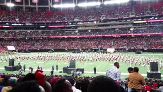 bethune cookman university marching band performance at the 2017 honda battle of the bands