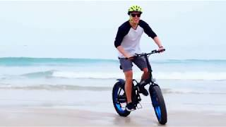 """ECOTRIC 20"""" New Fat Tire Folding Electric Bike Beach Snow Bicycle ebike 500W Electric Moped"""