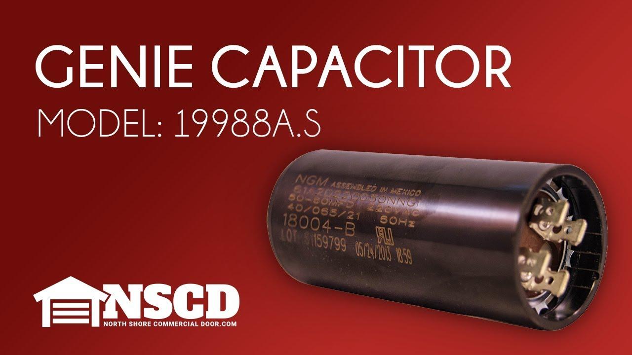 genie 19988a s garage door opener motor starting capacitor. Black Bedroom Furniture Sets. Home Design Ideas
