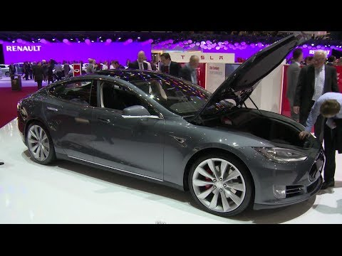 Tesla Motors Model S at Geneva Auto Show 2014