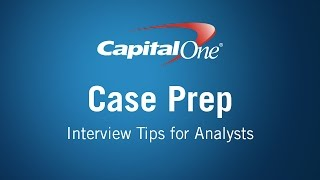 capital one case prep video for analysts