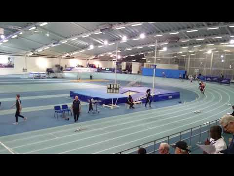 Anton running 200m at The London Games Athletics competition