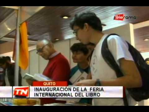 Inauguración de la feria internacional del libro