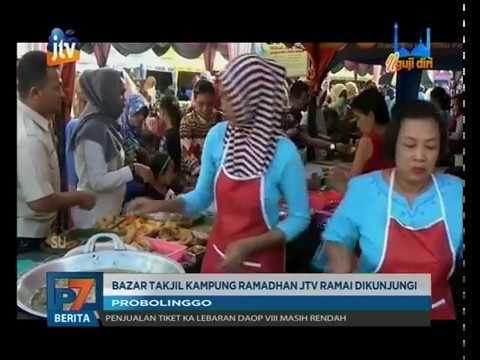 Www.pojokpitu.com : Bazar Takjil Kampung Ramadhan JTV Ramai Pengunjung