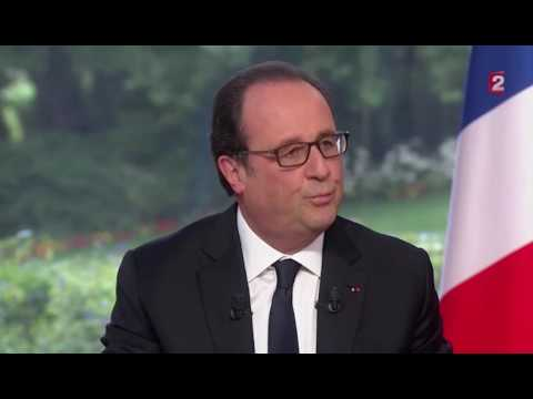 """François Hollande réagit à la polémique du """"coiffeur de l'Élysée"""" lors de son interview du 14 jui..."""