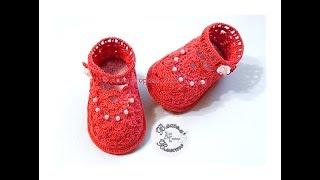 Пинетки туфельки ажурные крючком