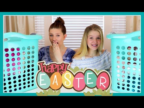 WHAT DID WE GET IN OUR EASTER BASKETS? || Taylor and Vanessa