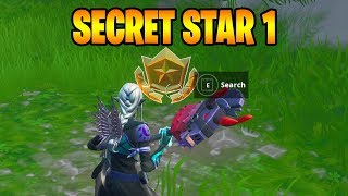FORTNITE SEASON 10 WEEK 1 SECRET BATTLE STAR LOCATION ( SEASON X )