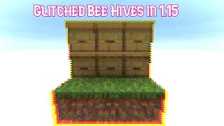 How To Get A Glitched Bee Hive In 1.15