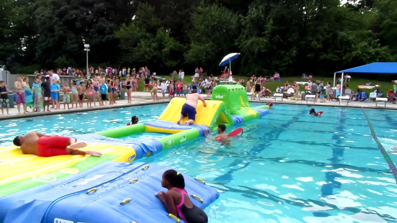 Pool Obstacle Course Youtube