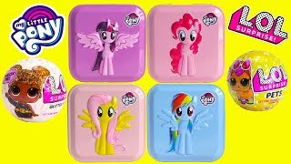 My Little Pony Surprise Tins and LOL Surprise Dolls Pets Toy Video