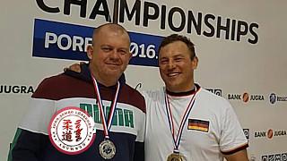 Oleg Derkach und Georg Aichele - World Championships  Masters Sambo Porec (Kroatien) 2016