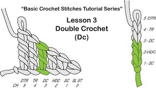 "Learn To Crochet~Lesson 3 of 6 of My ""Basic Crochet Stitches Series"""