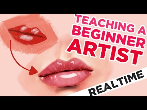 Teaching A Beginner How To Draw Lips Realtime In Procreate On Ipad Pro Youtube