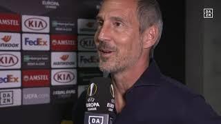 Adi Hütter im DAZN-Interview vor dem Spiel gegen Arsenal