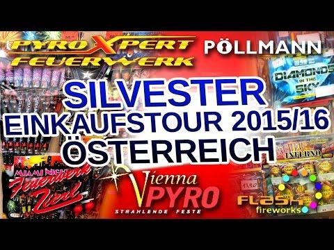 Silvester Feuerwerk Einkaufstour Österreich Wien 2015-16 PRO EDITION !!19 Shops!! [FULL HD]