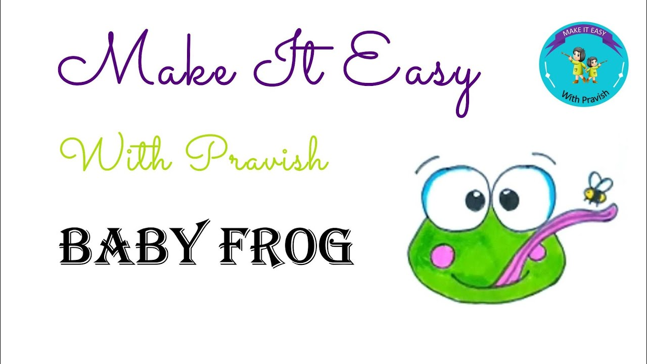 Learn to draw Cute Baby Frog - YouTube