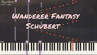 Franz Schubert - Wanderer Fantasy in C Major Op 15 | Piano Synthesia | Library of Music