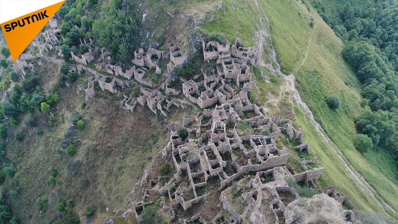 Ghost Town: Drone Reveals Ancient Abandoned Village in Dagestan