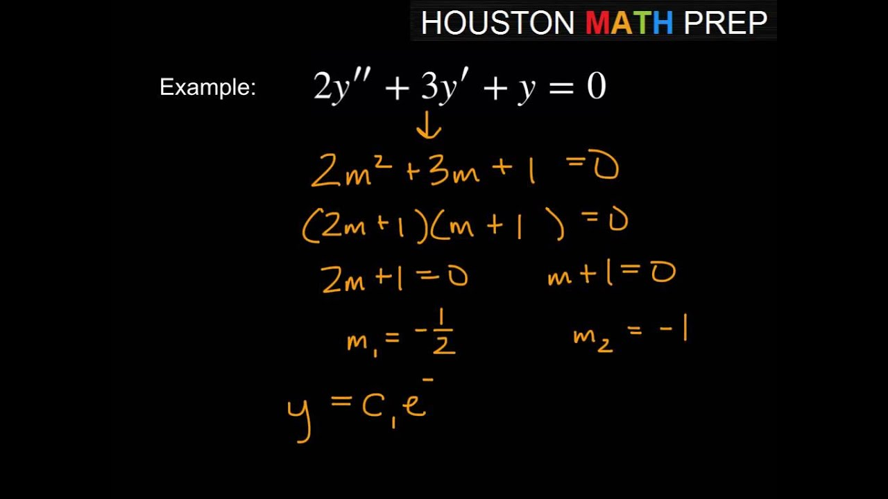Second Order Differential Equations Auxiliary Equation With