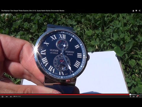 "The Madmen ""Don Draper"" Rolex Explorer, Ulysse Nardin Marine Chronometer & Sinn U1 Review"