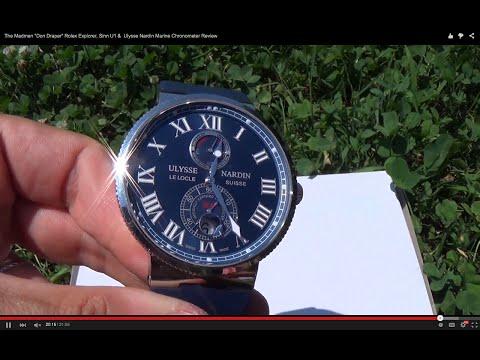 "The Madmen ""Don Draper"" Rolex Explorer, Ulysse Nardin Marine Chronometer & Sinn U1 Review"
