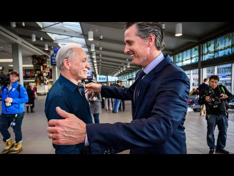 Gov. Gavin Newsom talks to TSA workers affected by government shutdown