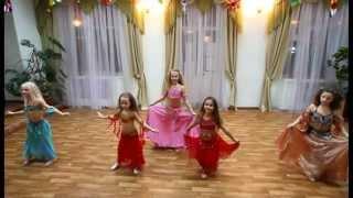 Восточные танцы, Донецк - Ферюза - дети (продолжающие) - 30.12.12(Отчётный концерт студии восточных танцев