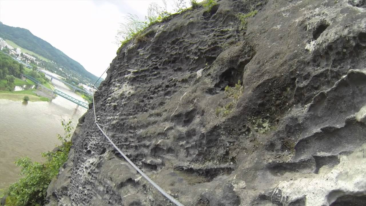 Klettersteig Decin : Via ferrata pastyrska stena decin youtube