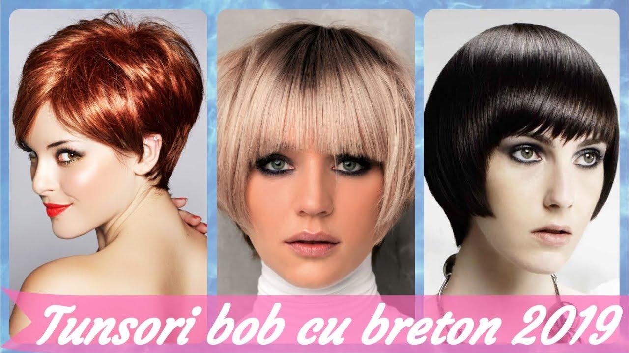 Top 20 Idei De Tunsori Bob Cu Breton 2019 Youtube