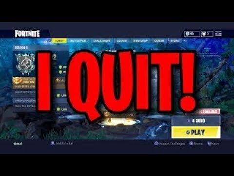 Quitting Fortnite..... (40K Spitfire Game)