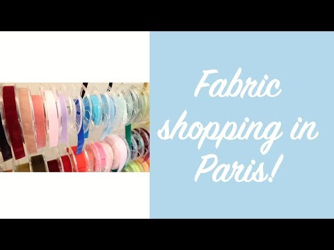 Fabric shopping in Paris!