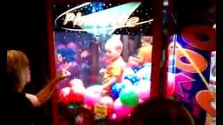 Kid Trapped Inside a Claw Machine