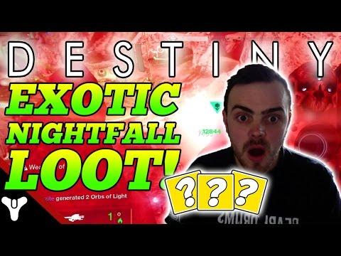"Destiny: ""Nightfall LOOT!"" Destiny Exotic Nightfall Loot! (Destiny Strike Gameplay)"